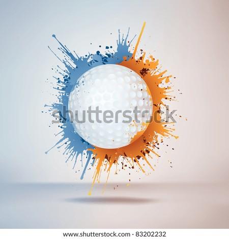 Golf Ball - stock vector