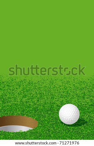 Golf:Ball and Hole - stock vector