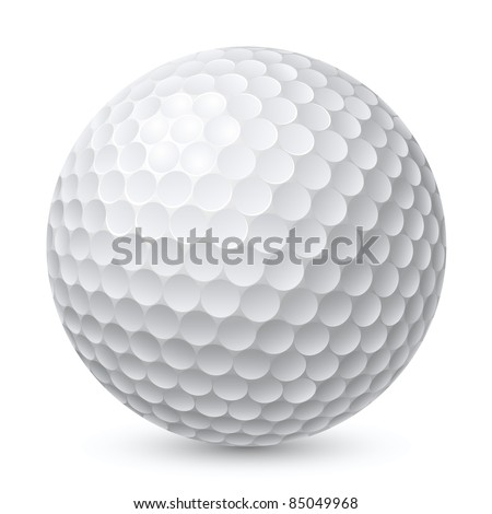 Golf Ball. Illustration on white background for design - stock vector