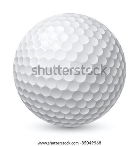 Golf Ball. Illustration on white background for design - stock vector