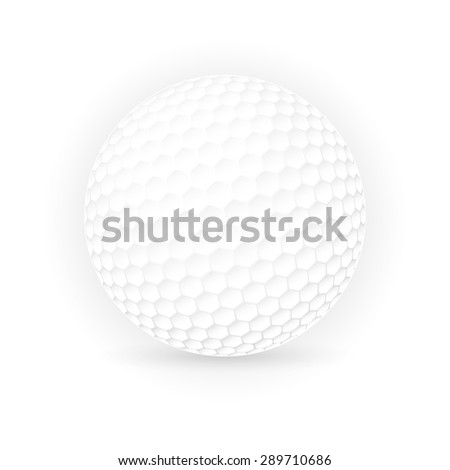 Golf ball isolated on white background, Vector illustration - stock vector