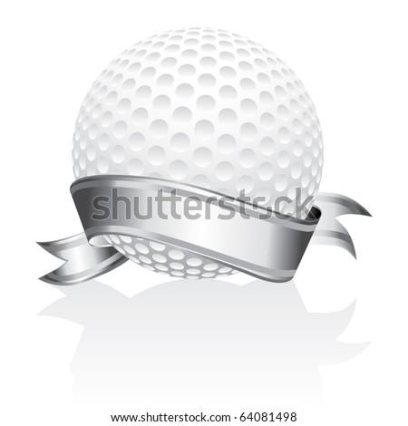Golf ball vector - stock vector