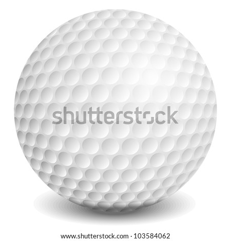 Golf ball, vector eps10 illustration - stock vector