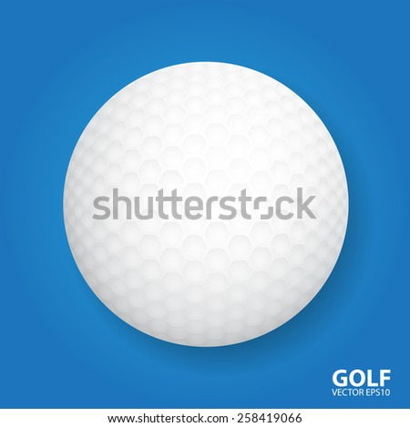 Golf ball. Vector illustration - stock vector