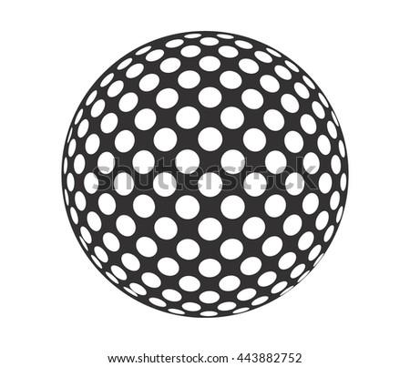 vector golf ball symbol stock vector 120644836 shutterstock. Black Bedroom Furniture Sets. Home Design Ideas