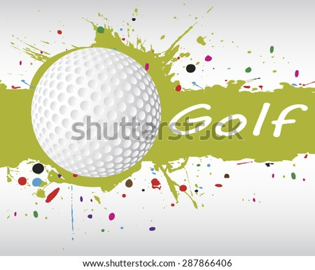Golf banner.Abstract green splash