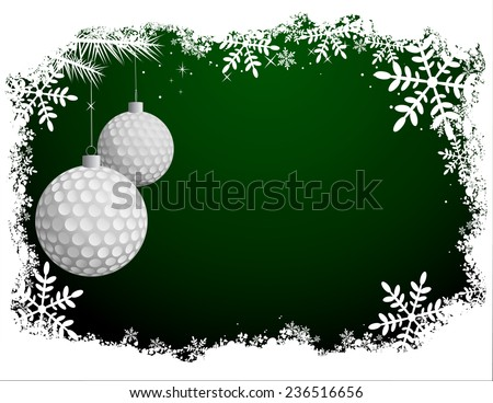 Golf Christmas Background - stock vector