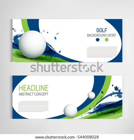 Golf Club Competition Tournament Template Poster Stock-Vektorgrafik ...