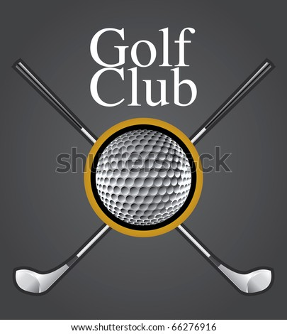 Golf Club Design Element Vector Drawing - stock vector