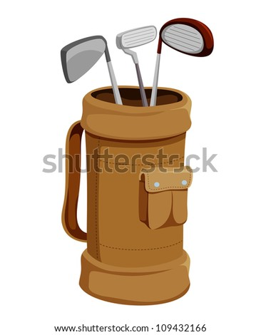Golf Clubs vector - stock vector