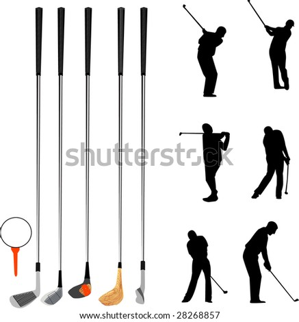 golf collection - stock vector