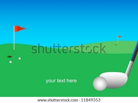 golf course ball driving-putter green