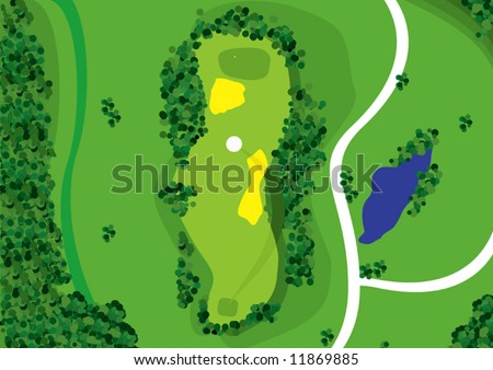 Golf Course Vector - stock vector