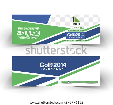 Golf Cup Header & Banner Design - stock vector