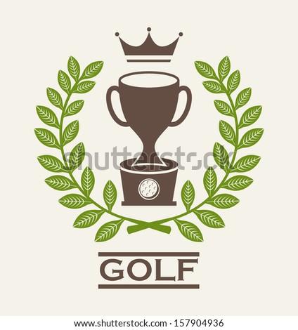 golf design over beige  background vector illustration - stock vector