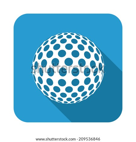 golf  design over blue  background vector illustration - stock vector