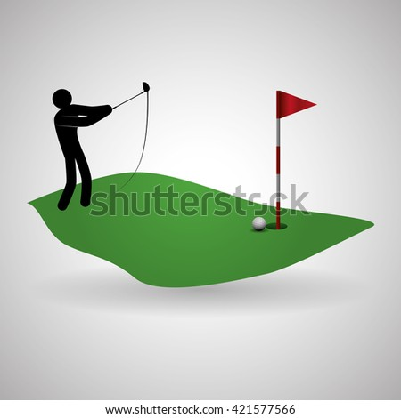 Golf design. Sport icon. Isolated illustration, editable vector
