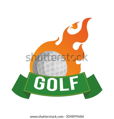 Golf digital design, vector illustration 10 eps graphic - stock vector