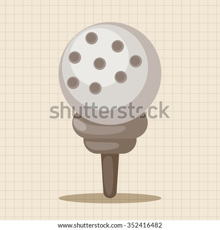 golf equipment theme elements - stock vector