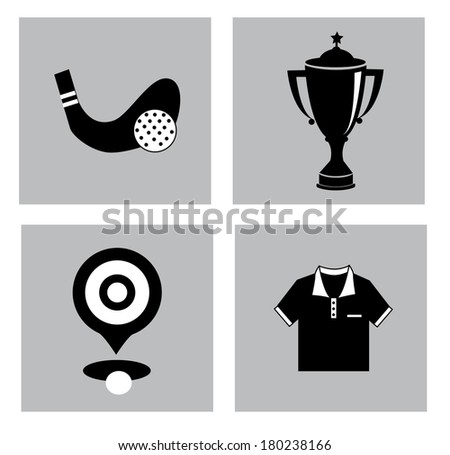 golf graphic design over  gray background vector illustration - stock vector
