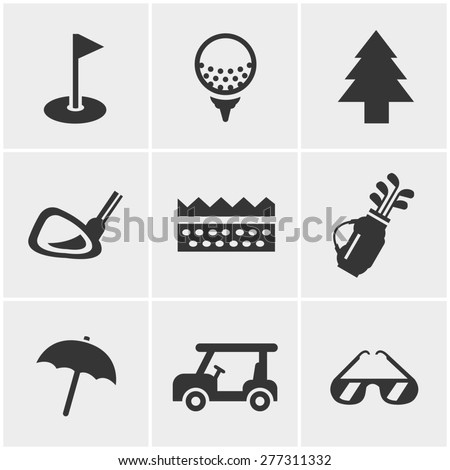 golf  Icons Set, Vector Design