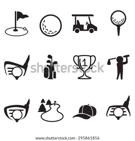 Golf icons vector illustration  set - stock vector
