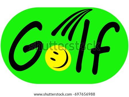 golf logo ball emoji on green stock vector 697656988 shutterstock rh shutterstock com Golf Ball Emoji Mean Golf Ball Emoji Mean