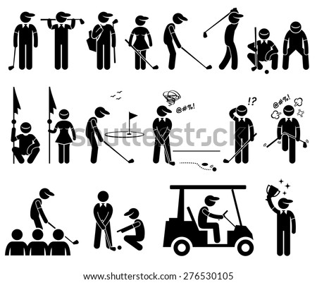 Golf Player Actions Poses Stick Figure 276530105 furthermore Golf stickers in addition Training Future Men furthermore Evolution t Shirts additionally 57116. on golf fail