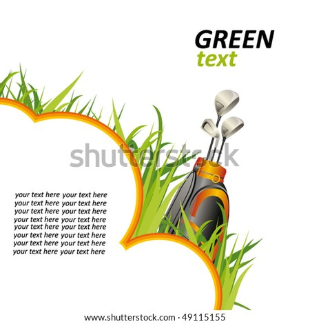 golf poster - stock vector