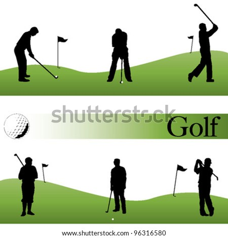 Golf set - vector illustration - stock vector