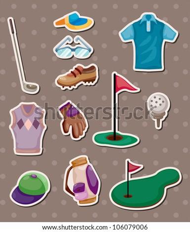 golf stickers - stock vector