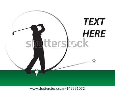 Golf Swing Logo Golf Swing Stock Vector