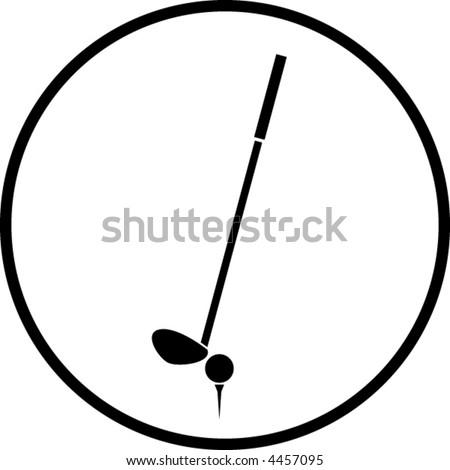 golf symbol - stock vector