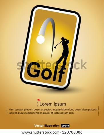 golf tag vector - stock vector