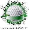 Golf theme logo - stock vector