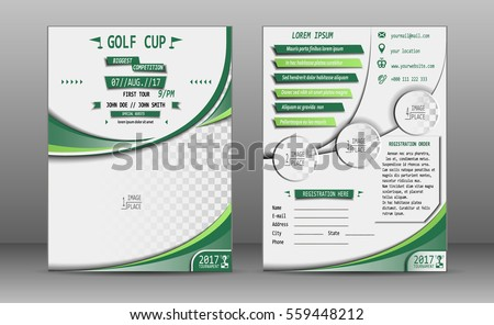 Golf Tournament Brochure Design Stock Vector   Shutterstock