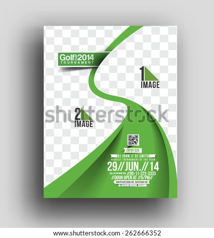 Golf Tournament Flyer & Poster Template - stock vector