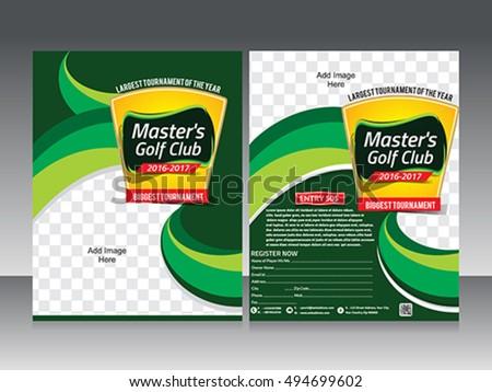 Golf Tournament Flyer Template Design Poster Stock Vector Hd