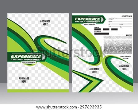 golf tournament flyer template design vector stock vector royalty