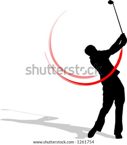 golfer - stock vector