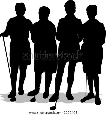 golfer - stock vector