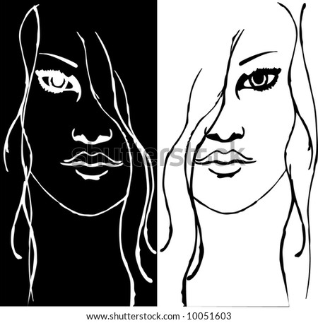 Good and Evil - stock vector