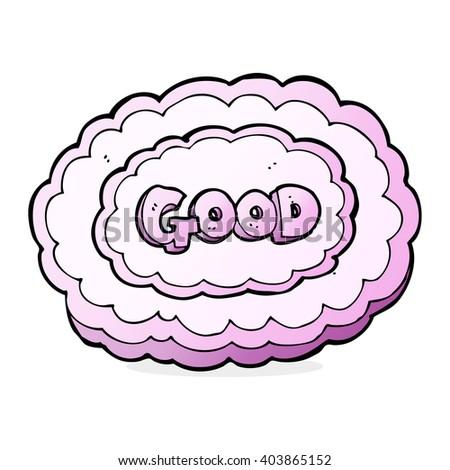 good cloud sign cartoon - stock vector