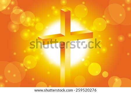 good friday jesus cross at sunset background vector illustration - stock vector