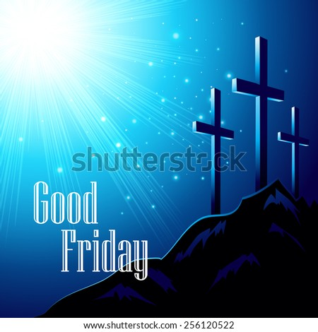 Good Friday. Vector illustration with the image of Calvary EPS10 - stock vector