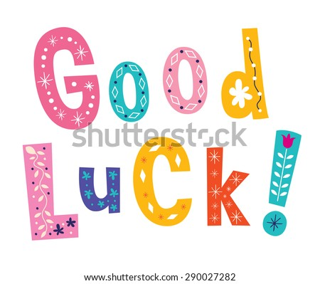 Good luck - stock vector