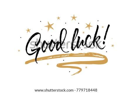 Good Luck Card Beautiful Greeting Banner Stock-Vektorgrafik ...