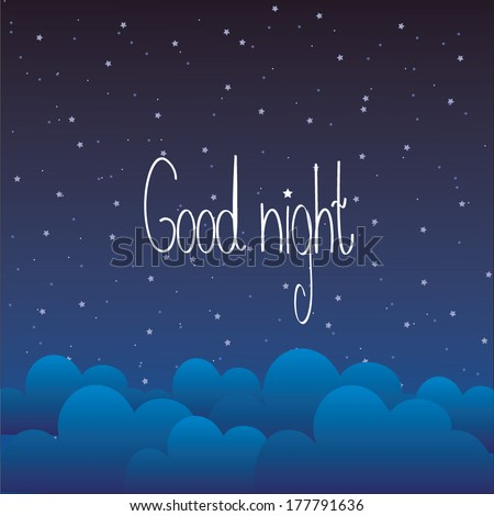 Good night letter - stock vector