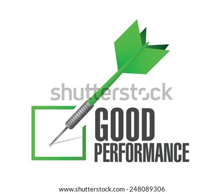 good performance check dart illustration design over a white background - stock vector