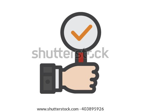 Good Review illustration - Flat Icon - stock vector